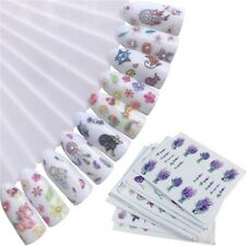 10Sheets Flowers Water Nail Stickers Transfer Sliders For Nail Watermark Decals