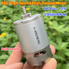 Mini 550 Motor DC6V-12V 29500RPM High Speed Large Torque For Electric Drill Tool