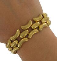 Gold Tone Chain Link Bracelet Vintage 1980s