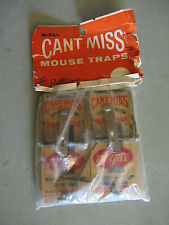 Pack of 2 Vintage McGill Can't Miss Mouse Traps - sealed in original package