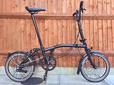 BROMPTON M6L BLACK EDITION FOLDING BIKE CYCLE - WORLDWIDE SHIPPING