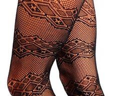 1 Pair of Black Geometric Fishnet Pantyhose Goth OSFM Style # 0961 SHIPS FREE