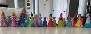 Disney Princess Magiclip Magic Clip Lot of 10 Dolls Figures 20 Dresses