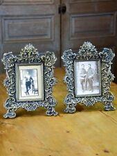 Pair of antique French Napoleon III photo frames