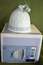 1994 Lladro Christmas Bell Ornament Angels Blue And White