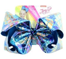 "LATEST! Jojo Siwa Bow Large 8"" Holographic 🦄 Blue Dreamy Mermaid"