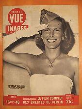 Point de Vue Images 17 du 16/9/1948-L.Leinhard élue Madelon combattants Américai
