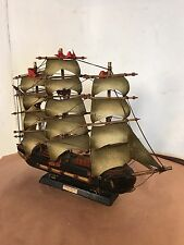"""Model Ship 18""""x15"""" Vintage Fragata Espanola A1780.C12pix4size&details.MAKE OFFER"""