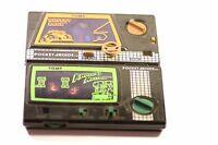 Rare vintage Tomy Pocket Arcade Desert Race / Knights Mission Wind up JOB  LOT