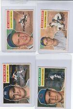 1956 Topps Lot (4) Red Schoendienst, Dick Groat, Hank Sauer, & Bob Turley