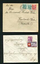Schweiz -  10 Belege von 1938 - 1943  , Lot 18   (SB-2)