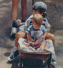 "Steve Hanks, ""Traveling at the Speed of Life"", ltd ed, framed, 30""hx14.5""w image"