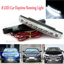12V 8W 8 LED Daytime Running Light DRL Car Fog Waterproof Day Driving Lamp White