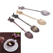 Vintage Coffee Ice Cream Dessert Spoons Retro Tea Spoon Tableware Kitchen Tools