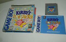 Kirby's Star Stacker (Nintendo Game Boy, 1997) GB CIB COMPLETE