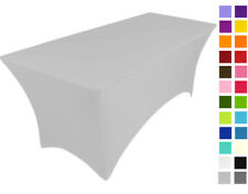 LIGHT GREY spandex lycra stretch cover tablecloth for 6ft foot table 180X75X75