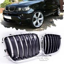 FRONT GRILLS CHROME-BLACK FOR BMW X5 E53 04-06 SPOILER BODY KIT NEW