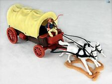 Vintage Timpo Wild West Action Cowboy with Carriage and Horses Complete Set