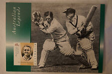 DON BRADMAN - Australian Legends - Maximum Card - Century vs Worcestershire.