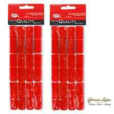 24 x Cling Hair Rollers Red 13mm Small, Hair Tools Cling Rollers Sealed Pack