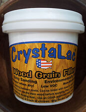 CrystaLac Clear Wood Grain Filler New Stainable Mini 8 oz Quint
