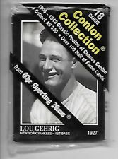 LOU GEHRIG 1991 CONLON COLLECTION SEALED PACK (18) CARDS GEHRIG ON TOP
