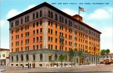 Postcard Army & Navy YMCA San Diego,California