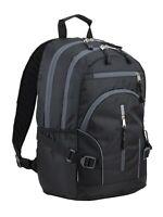 Eastsport Multi-Purpose Dynamic School Backpack - BLACK - Padded Laptop Storage