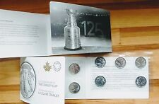 Canada 25-cent Quarter Coins 125th Anniversary Stanley Cup 10 coin Pack-No Tax