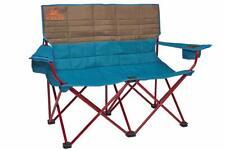 Kelty Loveseat Camping Chair Deep Lake/Fallen Rock - Folding Double Camp Chai...