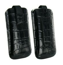 Housse Etui Pochette Croco Iphone 4 4S Noir Black