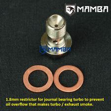Turbo Oil Feed Banjo Bolt Mitsubishi 4G63T DSM Eclipse 2G T25 T28 Prevent Smoke
