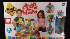 Kids @ work A ton of blocks 80 pcs Age 1+ up Compatible other brands Gift NIB
