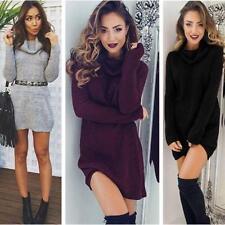 Women Winter Knit Casual Loose Long Sleeve Sweater Knitwear Pullover Jumper LG