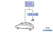 Genuine Hyundai i20 (2014 En Adelante) Luz de Niebla Delantera Rh - 92202C8000