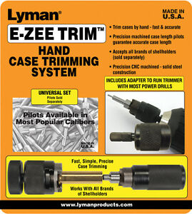Lyman E-ZEE TRIM Hand Case Trimming System or Related Accessories