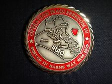 Operation IRAQI FREEDOM IV *SERVED IN HARMS WAY 2005-06* 2-Side Challenge Coin