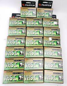20 New Blank Fuji Film Pro VHS-C Premium High Grade Camcorder Tape TC-30 Lot