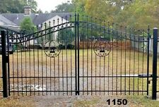 Custom Built Single Swing Driveway Gate KIT! 12ft Wide. Fence, Handrails. Steel