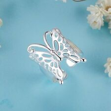 MPJ271 Adjustable Male Female 925 Silver Ring Butterfly Rings Fashion Jewelry