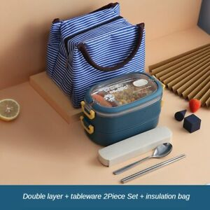 Stainless Steel Insulated Lunch Box student Multi-layer Food Container Bento Box