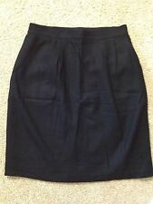 Women's Sag Harbor Size 14 Black 100% Wool, Straight, Knee Length Pencil Skirt