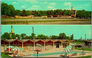 Meridian, Mississippi Postcard HOLIDAY INN (No. 2) Pool View Roadside c1960s