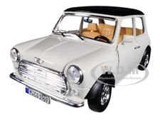 1969 MINI COOPER BEIGE WITH BLACK TOP 1/18 DIECAST MODEL CAR BY BBURAGO 12036