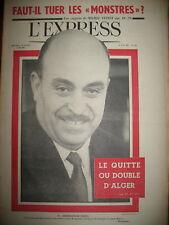 574 ALGERIE FARES G.P.R.A. ENFANTS MONSTRES STRAVINSKY L'EXPRESS 1962