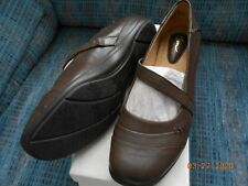 Kim Rogers Irene Mary Jane Dark Brown Shoes Size 8.5 M NEW In Box