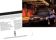 1998 Lincoln TOWN CAR SIGNATURE Series Photo / Brochure Sheet / Flyer (pair, 2)