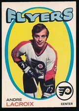 1971-72 O-Pee-Chee Hockey #33 ANDRE LACROIX (Philadelphia Flyers) *NICE*