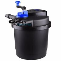 Pressurized Bio Pond Filter w/ 13W UV Sterilizer up to 1600 Gal Easy Cleaning