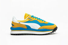Puma Men's Style Rider Stream On Running Shoes Blue Spectra Yellow 371527-03 e